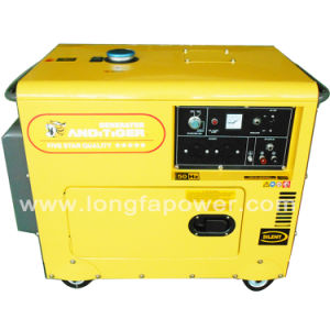Yellow Colour Lonfa 6.5kVA Single Phase Silent Diesel Generator pictures & photos