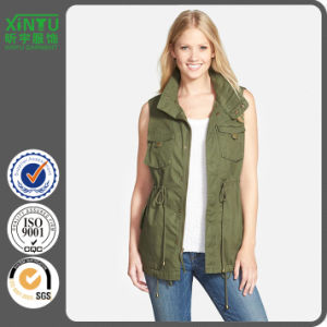 2016 Popular Ladies Cotton Twill Military Vest pictures & photos