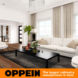 Modern Enjoyable White Lacquer Wooden Home Living Room Furniture (OP16-Villa01) pictures & photos