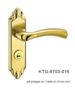 (KTG-5703-016) High Security Golden Color Door Handle on Plate pictures & photos