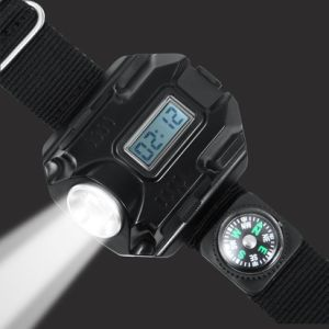 Infrared Compass LED Display Rechargeable Wrist Watch Flashlight Torch Light pictures & photos