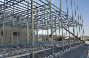 Prefab Steel Structure Frame Shop Building with Fireproof Panel pictures & photos