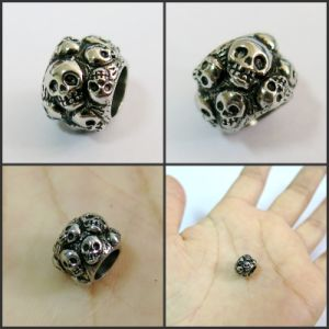 Cheap Wholesale Bracelet Metal Skull Beads pictures & photos