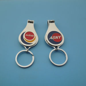 New Metal Keychain with Bottle Opener Nail Clipper Wholesale pictures & photos