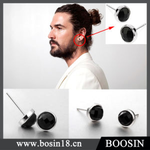 Fashion High Quality Black Crystal Earring for Men pictures & photos