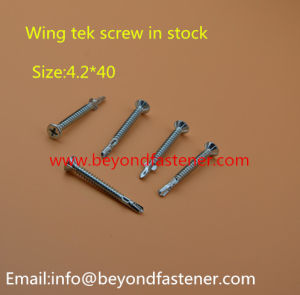 Flat Head Self Drilling Screw Wing Tek Screw Gypsum Board Screw pictures & photos