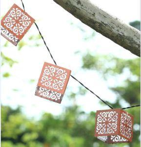 Solar Napa Metal Lantern String Light pictures & photos
