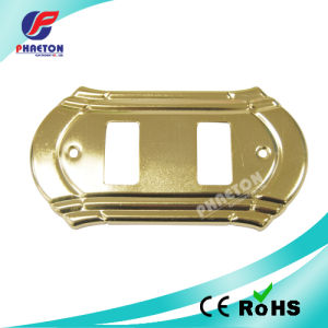 Golden Plated Metal Wall Switch Face Plate pictures & photos
