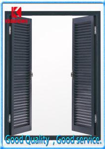 Black Color Double Casement Interior Aluminum Shutters