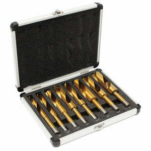 "8PCS 1/2"" Reduced Shank Drill Bit Set in Aluminum Case pictures & photos"