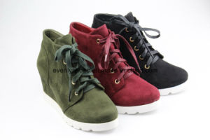 New Arrival Casual Style Lace up Women Ankle Boots pictures & photos