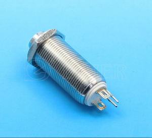 High Head Metal on off Latching Push Button Swich (GQ12H-10EL) pictures & photos