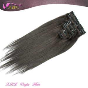 Cuticles Intact Virgin Peruvian Hair Extension Tangle Free Clip in Hair pictures & photos