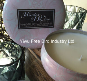New Design Scented Three Wicks Large Tin Soy Candle for Church pictures & photos