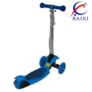 3 Wheel Folding Children Kick Scooter with Different Colours (BX-WS002) pictures & photos