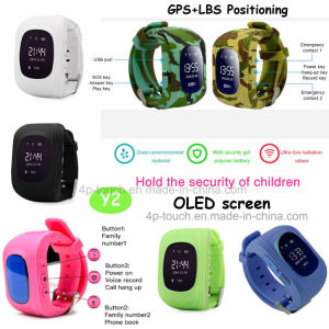 Sos Child/Kids Smart Portable GPS Tracker Watch with Multifunctions Y2 pictures & photos