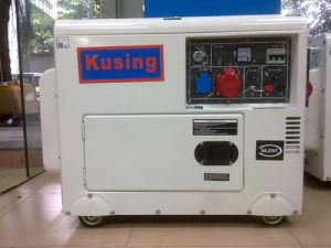 Guangdong 6.5kVA Air Cooling Protable Mobile Silent Diesel Generator pictures & photos