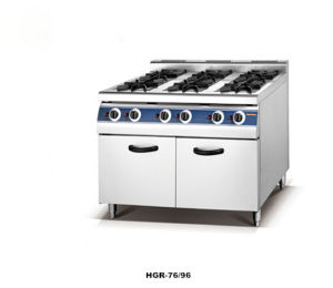 China 6-Burner Gas Range with Cabinet (HGR-96G) pictures & photos