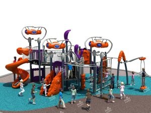 Kaiqi Medium Sized Alien Themed Children′s Playground (KQ50028A) pictures & photos