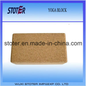 Embossed Eco-Friendly Natural Cork Yoga Block