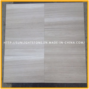 Chinese Wooden White Vein Marble Stone Floor for Kitchen, Bathroom pictures & photos