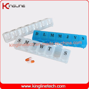 Plastic Medicine Box with 7 Cases (KL-9024) pictures & photos