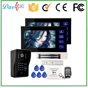 7 Inch Wired Video Door Phone Supports ID Keypad and Remote Control pictures & photos