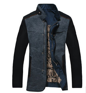 Black Slim Casual Jacket Cotton for Man with Good Price pictures & photos