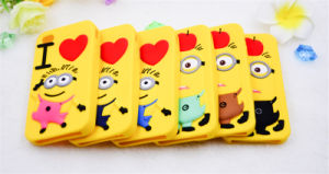 Heart Apple Daddy Minions Silicone Phone Case for Samsung G530 S6 S6edge S4 S5 5s Se (XSXH-009) pictures & photos