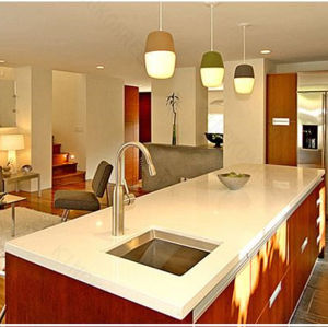 Customized Solid Surface White Kitchen Countertop pictures & photos