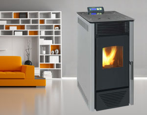 8kw, Auto Feeding, Auto Ignite, Indoor Using Wood Pellet Stove (NB-PI) Grey pictures & photos