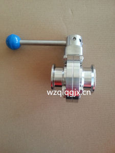 304/316lstainless Steel Food Grade Clamped Butterfly Valve pictures & photos