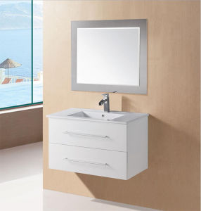 White Glossy Wooden MDF Bathroom Vanity with Soft Close (LOLA-600) pictures & photos