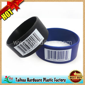 1 Inch Wide Silicone Wristband, Ink Filled Wristband (TH-band031) pictures & photos
