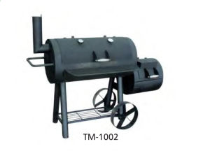 Camping Chimney BBQ Smoker Grill with Wheels pictures & photos