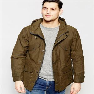 2016 Men′s Casual Hooded Parka Waxed Cotton in Green pictures & photos