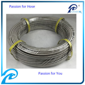 "5/8"" Stainless 3/8′′ Steel Braided Flexible Teflon Hose with White Extruded PTFE pictures & photos"