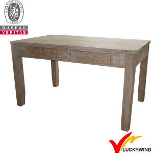 Farm Chic 4 Seaters Square Solid Wood Pedestal Dining Table pictures & photos