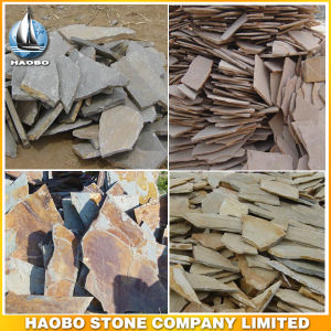 Exterior Paving Irregular Shape Flagstone for Garden Flooring pictures & photos