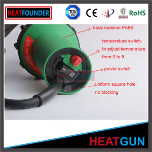 230V 1600W Temperature Adjustable Hot Air Gun for PVC Foil pictures & photos