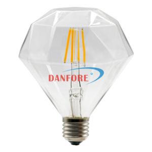 6W Ce ETL 110mm Decoration Vintage Light DIY Shape Filament Diamond LED Bulb