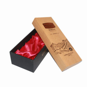 Embossing Paper Red Wine Packaging Box with Silk Insert pictures & photos