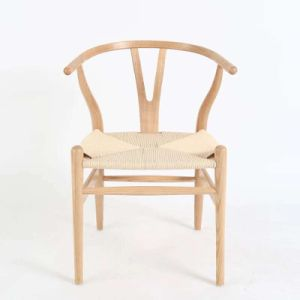 Nordic White Wax Wood Good Quality Dining Chair pictures & photos