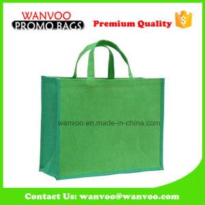 Green Non Woven Cotton Canvas Jute Shopping Tote Bag pictures & photos