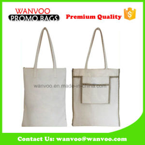 Best Quality Blank Simple Eco Canvas Shoulder Foldable Tote Bag pictures & photos