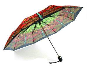 Butterfly/Printing 3 Folding/Auto Open&Close Umbrellas (YS-3FD22083563R)