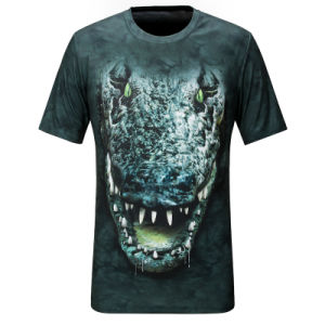 Fashion 3D Printed Polyester Men T-Shirt (ZT022) pictures & photos