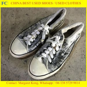 Big Size Man and Lady Used Shoes for African (FCD-005) pictures & photos