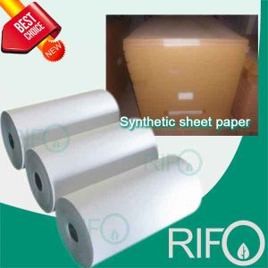 Matt Treated Silk Flexible Printable BOPP Synthetic Film with MSDS pictures & photos