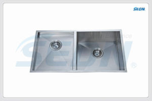 Handmade Double Bowl Stainless Steel Sinks (SA2012) pictures & photos
